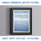Spanish Cervantes quote posters - bundle of 10