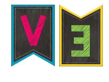 Spanish Chalkboard Brights Bienvenidos a Nuestra Clase Banner