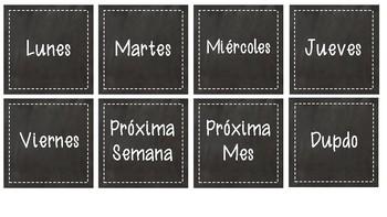Spanish Chalkboard Labels for Lakeshore Book Bins