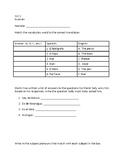Spanish Chapter Test - Spanish 1 Chapter 1