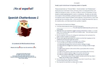 Spanish Chatterboxes 1 Communication Activity