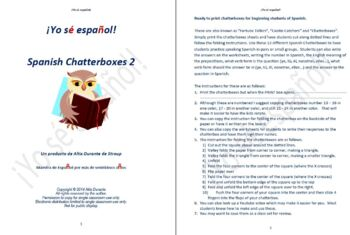 Spanish Chatterboxes 2 Communication Activity