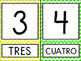 Spanish Chevron Number Posters