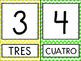 Spanish Chevron Number Posters