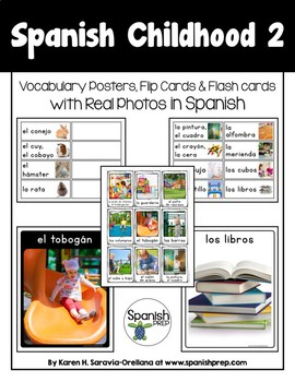 Spanish Childhood 2 Vocabulary Posters & Flashcards with Real Photos