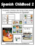 Spanish Childhood 2 Vocabulary Posters & Flashcards with R