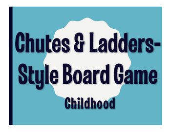 Spanish Childhood Chutes and Ladders-Style Game
