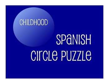 Spanish Childhood Circle Puzzle