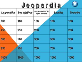 Spanish Childhood Jeopardy- (La niñez) (Realidades 2, Chapter 4A)