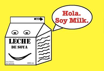 Spanish Chiste Soy Milk Postcard Set of 50