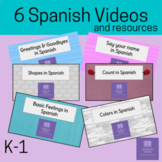 Spanish Choice Board for Digital Learning with Videos