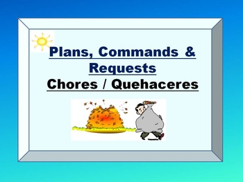 Spanish Chores Command Conditional PowerPoint Bundle