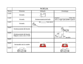 Spanish Chores Info Gap Activity