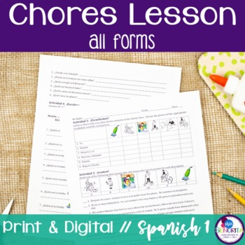 Spanish Chores Lesson - all forms