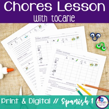 Spanish Chores Lesson with Tocarle
