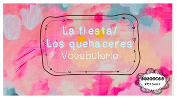 Spanish Chores/Party Vocabulary PPT - Avancemos 5.2 - Los quehaceres