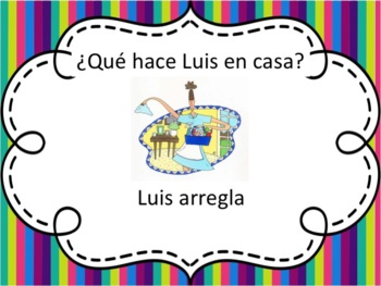 Spanish Chores Powerpoint - all forms
