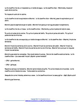 Spanish Chores Story - ¡Qué sucio!