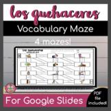 Spanish Chores Vocabulary Maze   Digital + Print   Distance Learning