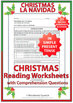 Spanish Christmas - 21 Reading Comprehension Worksheets in Present Tense