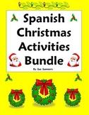 Spanish Christmas Bundle - Practice, Vocabulary, Puzzles,