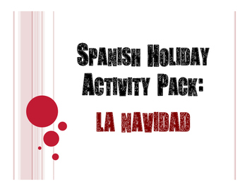 Spanish Christmas Activity Pack