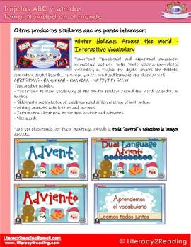 Spanish Christmas Around the World - ABC Flashcards - biliteracy center ideas