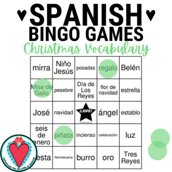 Spanish Christmas BINGO - Nativity Vocabulary