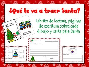 Navidad! Spanish Christmas Book, Writing Activities, and Letter to Santa