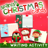 Spanish Christmas Card Activity - Writing Practice