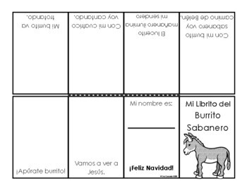 Spanish Christmas Carol Lyric Fill-in Burrito Sabanero