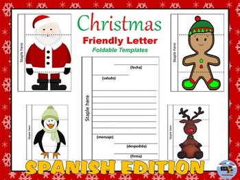 Spanish Christmas Characters Letter Writing