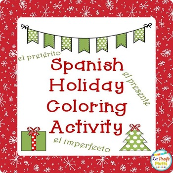 Spanish Christmas Color-By-Verb-Tense Sheets