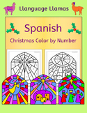 Spanish Christmas Navidad Color by Number