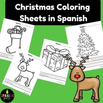 Spanish Christmas Coloring Sheets (Navidad hojas de colorear) by ...