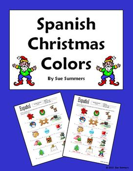 Spanish Christmas Colors IDs Worksheet - NAVIDAD