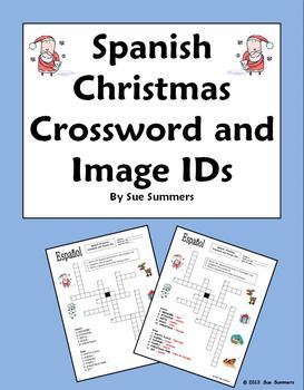 Spanish Christmas Crossword Puzzle Worksheet - Navidad