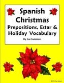 Spanish Christmas, Estar and Prepositions Worksheet - Navidad