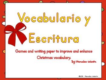 Spanish Christmas Games & Writing to Improve and Enhance Vocabulary