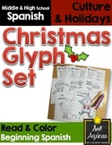 Spanish Christmas Glyph - Set of 3 Reading Activities - Be