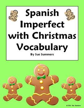 Spanish Christmas Imperfect Sentences & Conjugations
