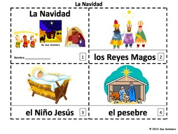 Spanish Christmas / La Navidad Booklets and Presentation VERSION 2