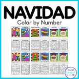 Spanish Christmas / La Navidad Color by Number