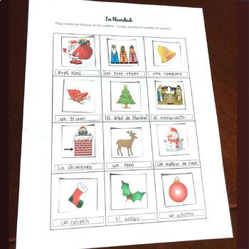 Spanish Christmas La Navidad Interactive Notebook Activities