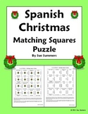 Spanish Christmas Matching Squares Navidad