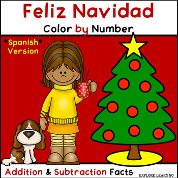 Spanish Christmas Math Fun / Addition & Subtraction Facts