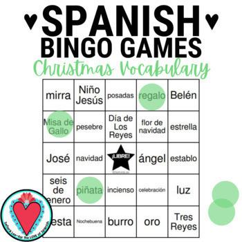 Spanish Christmas Vocabulary Mega Bundle