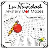 Spanish Christmas Mystery Dot Mazes