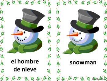Spanish Christmas / Navidad Bilingual Flashcards & PowerPoint