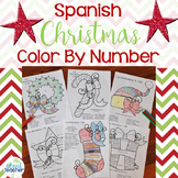 Spanish Christmas Color by Number 1-10, 1-20, 1-100
